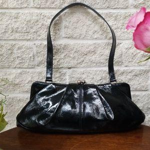 HOBO International Patent Leather Kiss Clasp Bag